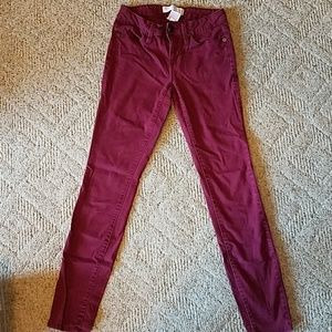 Juniors Maroon Pants